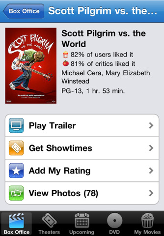 Movies by Flixster - with Rotten Tomatoes