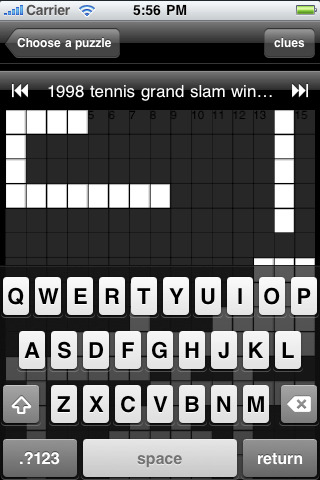 Sport Crossword on Sports Crossword Puzzles App For Ipad  Iphone   Sports   App By Iapp
