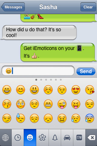 how to get emoticons on keyboard ipad