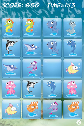 Funny Fishes - Matching Game