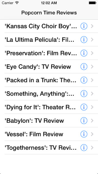 Popcorn Time - Movie Reviews, TV, Music, Theatre Reviews camera reviews