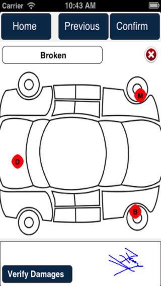 Navotar Car Rental Mobile App projector screens rental