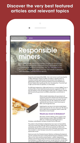 Materials World Magazine: Minerals, mining, insights, reports and features from around the world swimming world magazine