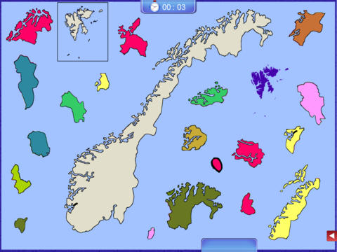 Norway Puzzle Map norway map
