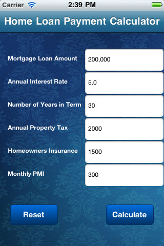 Home Mortgage Loan Payment Calculator 10 App for iPad