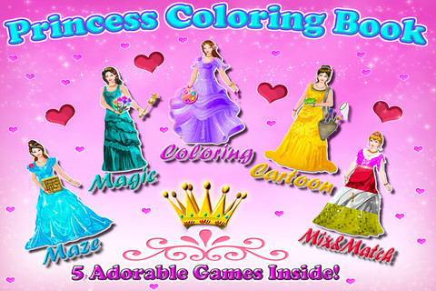 Princess Coloring Book - All in 1 draw , paint and color games HD 1.0