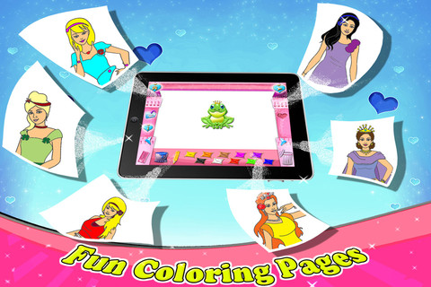 Princess Coloring Book - All in 1 draw , paint and color games HD