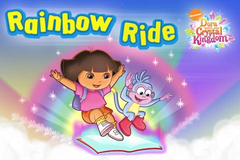 dora crystal kingdom coloring pages - dora saves the crystal kingdom rainbow ride app for ipad