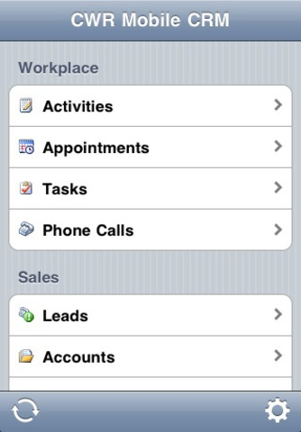 CWR Mobile CRM 4.2 for iPhone and iPad (Microsoft Dynamics CRM 4) crm