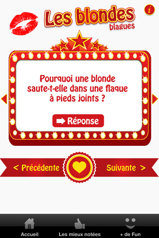 Les blondes (best of) 1.3 App for iPad, iPhone - Entertainment - app