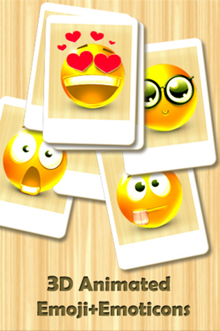 Animated 3D Emoji+Emoticons for MMS Text Messag...