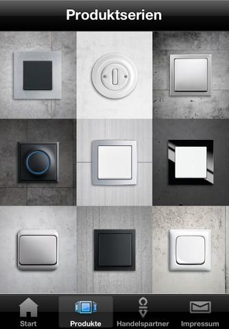 busch jaeger lichtschalter app for ipad iphone. Black Bedroom Furniture Sets. Home Design Ideas
