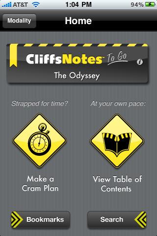 Cliff notes homework help