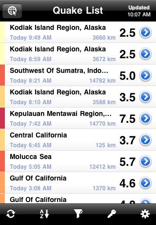 QuakeFeed - World Earthquake Info Displayed on ESRI Maps