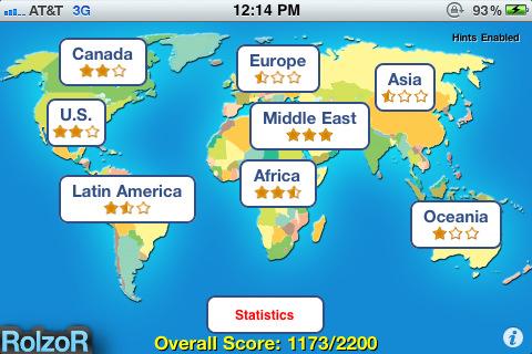 TapQuiz Maps World Edition