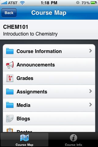 "Blackboard Mobileâ""¢ Learn for iPhone"