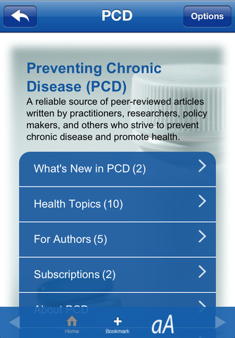 Preventing Chronic Disease (PCD) top 100 health articles