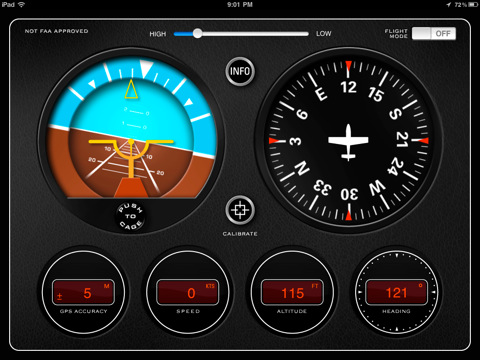 Classic Aircraft Gyroscope Instrument Panel App for iPad