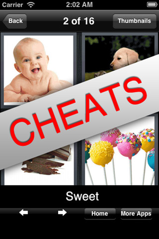Cheats for Whats the Word - 4 pics 1 word 1.0