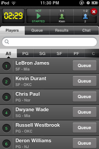 iphone basketball game yahoo basketball draft mobile 2663