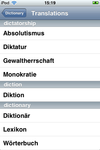 German dictionary translation to english for Farcical german translation