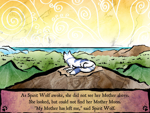 BookPlayground - SpiritWolf iPad inappropriate mother son touching