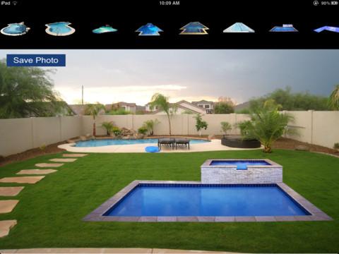 Future pools swimming pool design app for ipad iphone for Swimming pool design app