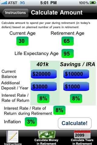 Desjardins retirement calculator rate by state