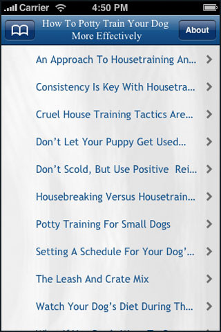 Toilet Training on How To Potty Train Your Dog App For Ipad Iphone
