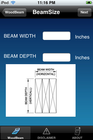 Wood beam design calculator for construction app for ipad New construction calculator