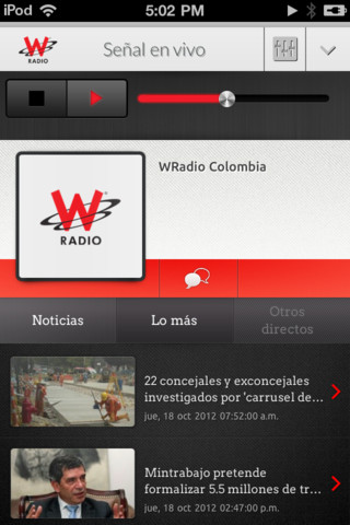 WRadio Colombia for iPhone colombia radio