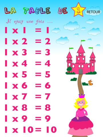 Les tables de multiplications app for ipad iphone for Les multiplications