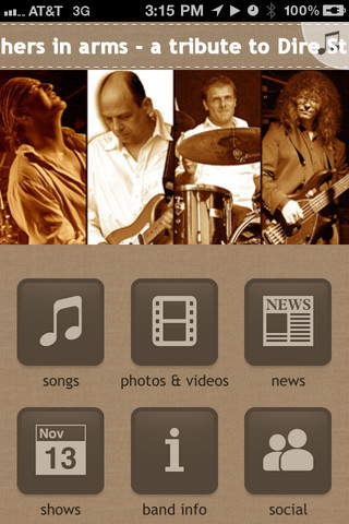 brothers in arms - a tribute to Dire Straits 1.5.1 App for iPad