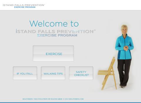 iStand Falls Prevention® Exercise Program smartphones for seniors