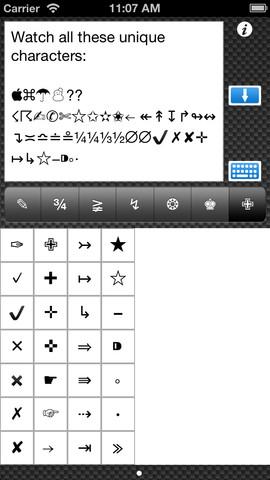 Symbols - Symbols and characters