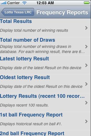 texas lotto report