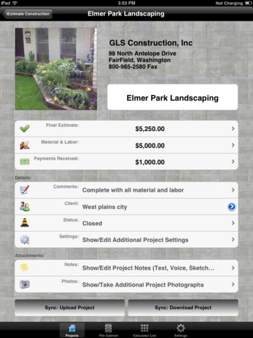 Iestimate construction for ipad app for ipad iphone for Application ipad construction maison