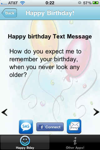 Text Messages To Wish Happy Birthday App For Ipad Iphone Happy Birthday Wishes Text
