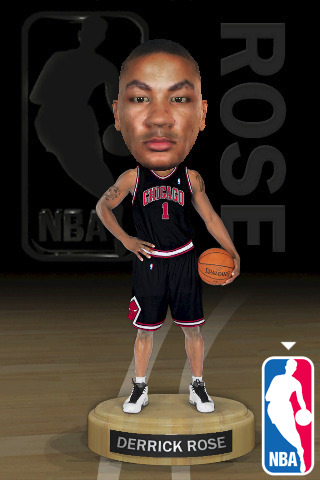 derrick rose. NBA Mini-Bobble Derrick Rose