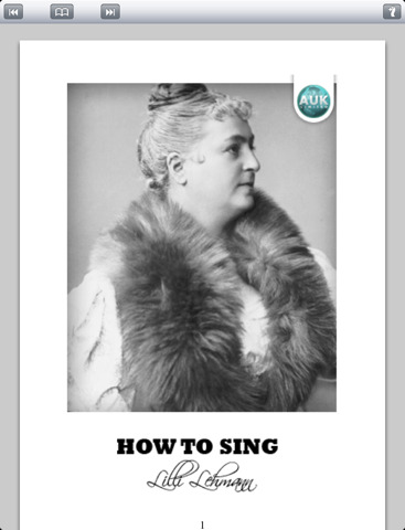 2711 1 how to sing by lilli lehmann Singing Lesson Paris