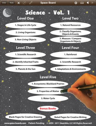 Science 1st-5th Grade Digital Workbooks - Space Board Single Subject