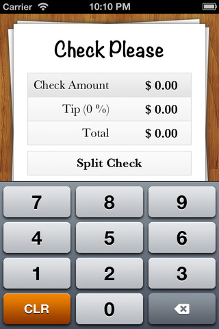 Check Please - Tip & Check Split Calculator check printing
