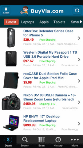 BuyVia – Price Comparison for Computers, Tech, and more. Black Friday, Cyber Monday Deals black friday 2015 deals