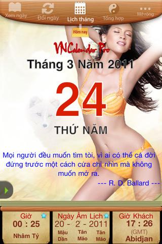 VNCalendar Pro (Lich Van Nien & Tu Vi & Chu Ky Sinh Hoc) 2.1