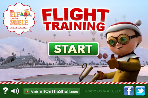 Flight Training - Elf on the Shelf-Christmas Game