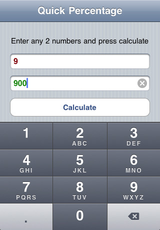 quick percentage calculator