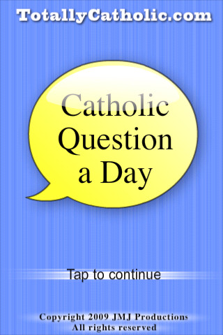 Catholic Question of the Day 1.0