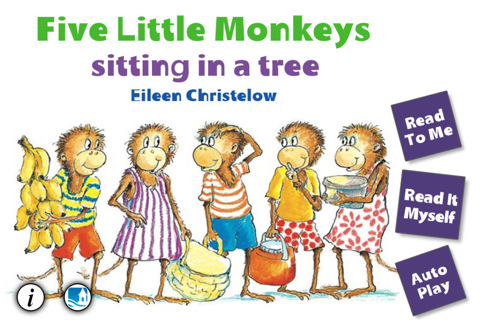 five little monkeys sitting in a tree coloring pages