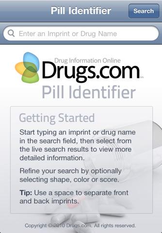 Drugs.com mobile pill identifier