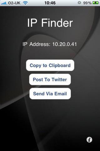 IPFinder - What`s My IP Address? App for iPad - iPhone
